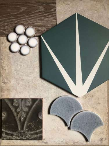 Lily pad tile moodboard