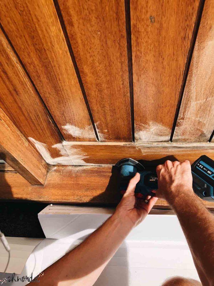 door sanding
