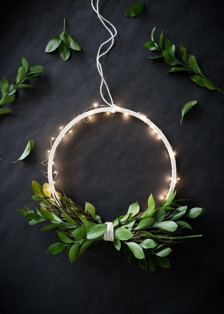lit diy wreath