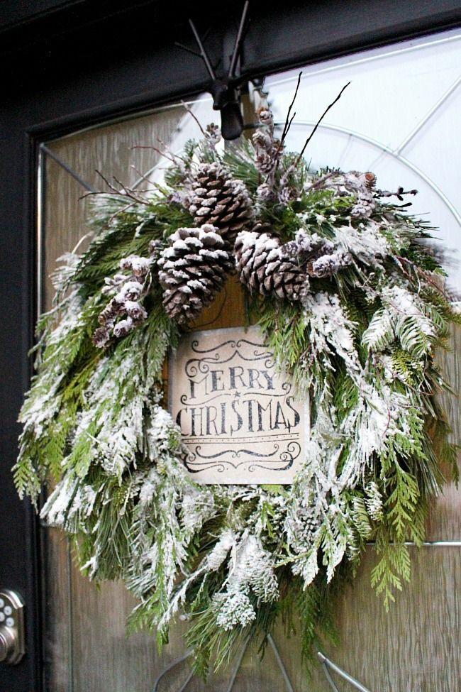 diy fresh greenery wreath