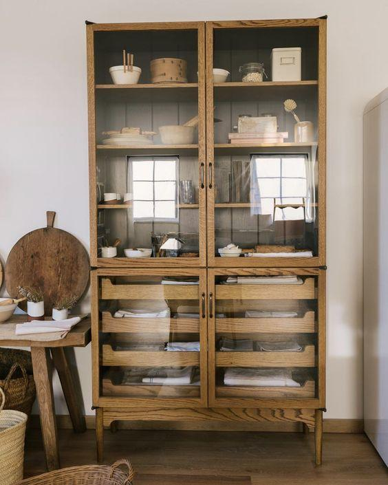 beautiful wooden kitchen display unit