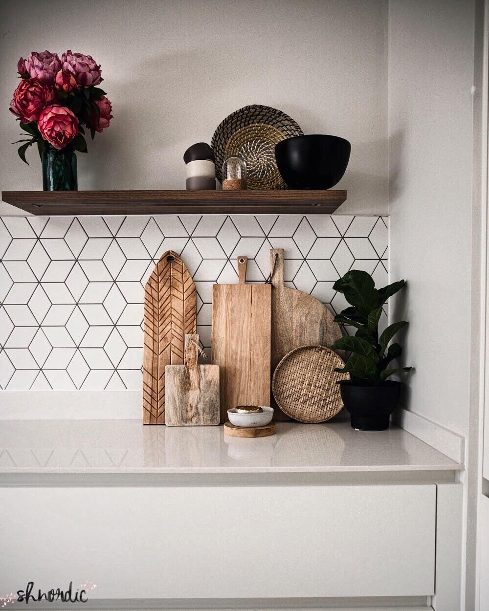 kitchen with chopping boards