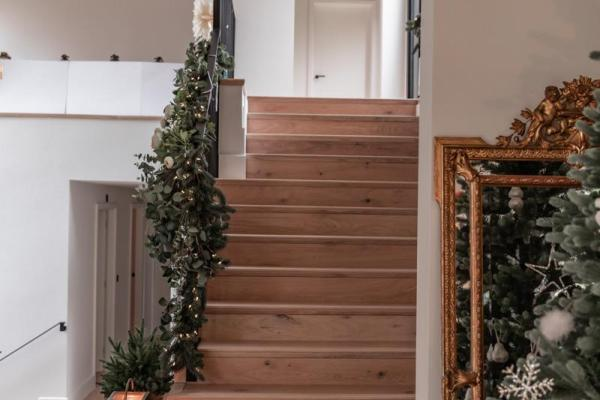 festive hallway