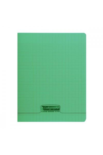 cahier polypro vert 24x32 192p grands carreaux seyes 90g