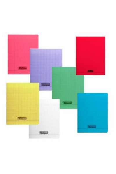 cahier polypro rouge calligraphe 24x32 140p grands carreaux seyes 90g