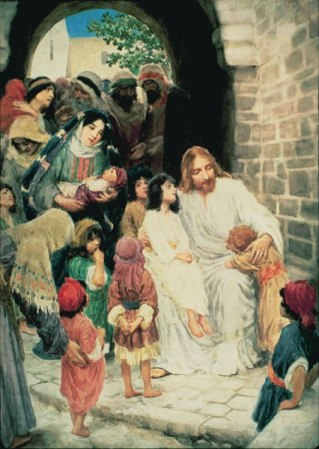 Christ Blessing the Children By William Henry Margetson