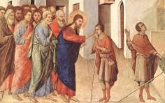 Duccio di Buoninsegna - Healing of the Blind Man