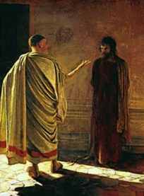 Hearing Before Pilate, by Nikolai Ge