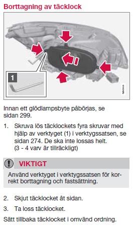 Hur Man Byter Lampa P 229 En Volvo V60 Bytabil Net