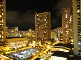 View from our city-view room at Waikiki Beach Marriott