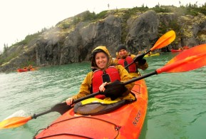 We went kayaking just across the Canadian border!