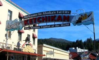 Visiting Ketchikan.