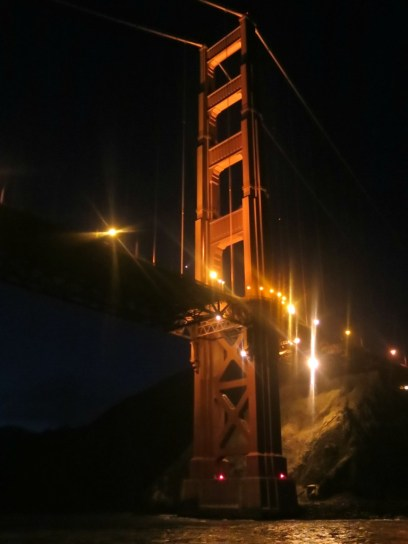 Night falls on the Golden Gate
