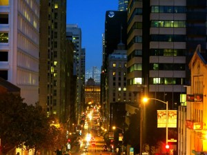 Financial District at Night