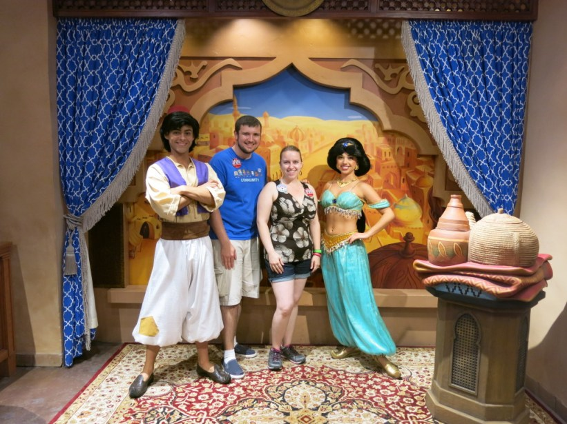 Aladdin and Jasmine at Disney World