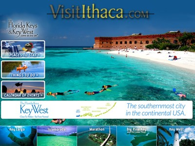 "Due to a ""ridiculously stupid winter,"" Visit Ithaca encourages people to go to Florida instead."
