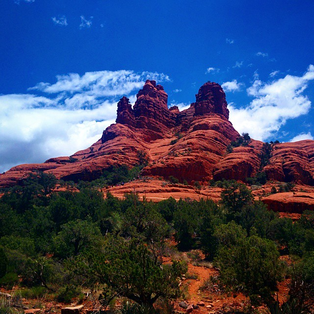 Stunning red rocks.