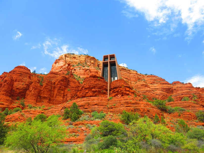 Chapel of the Holy Cross, inspired by Frank Lloyd Wright.