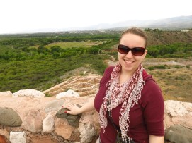 Kim on Tuzigoot's Roof