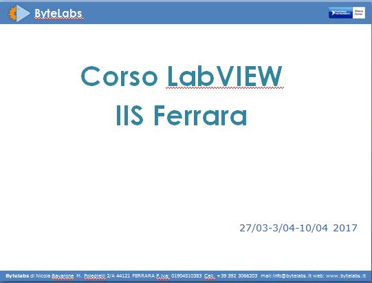 Corso IIS Ferrara