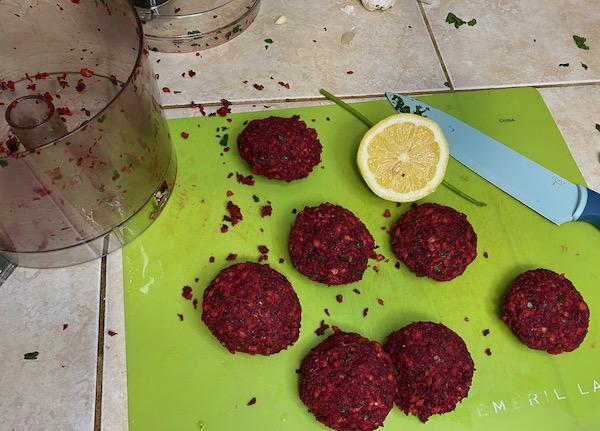 Beetroot Falafel Patties