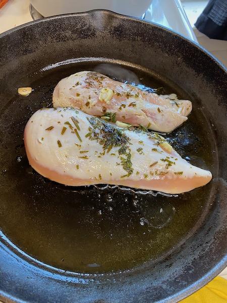 Herbed Chicken Sauteing