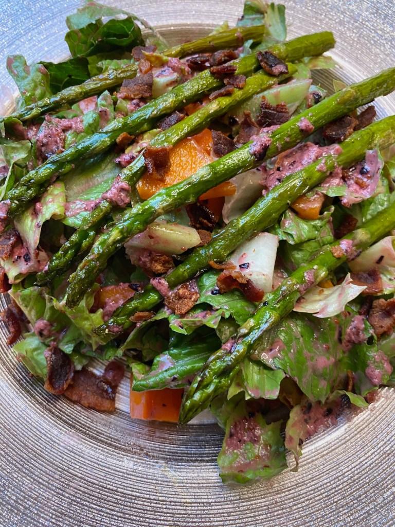 Roasted Asparagus Salad with Blueberry Balsamic Vinaigrette