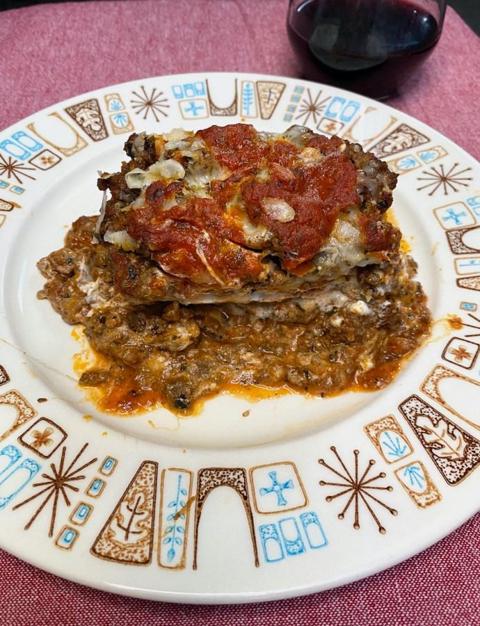 Cheesy Keto Lasagna Loaf