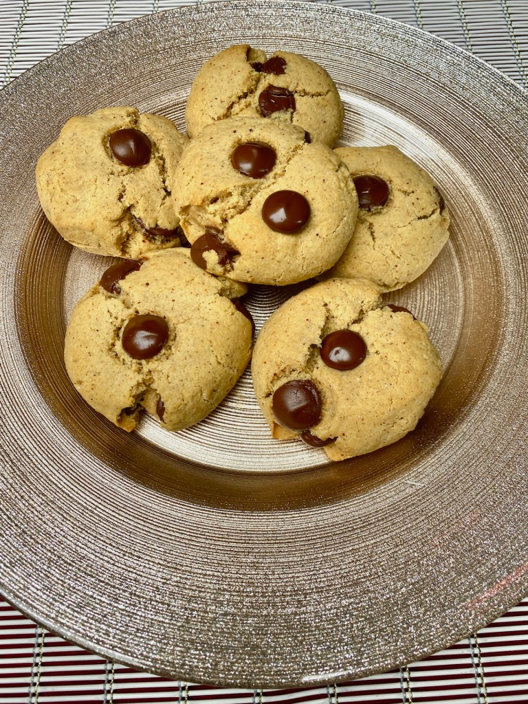 Almond Butter Cacao Chip Cookies
