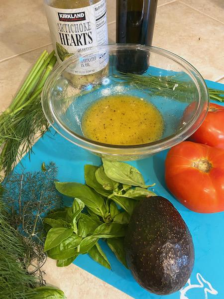 Avocado, Artichoke, and Tomato Salad Vinaigrette
