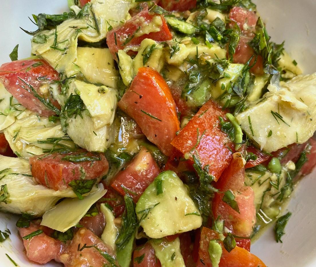 Avocado, Artichoke, and Tomato Salad