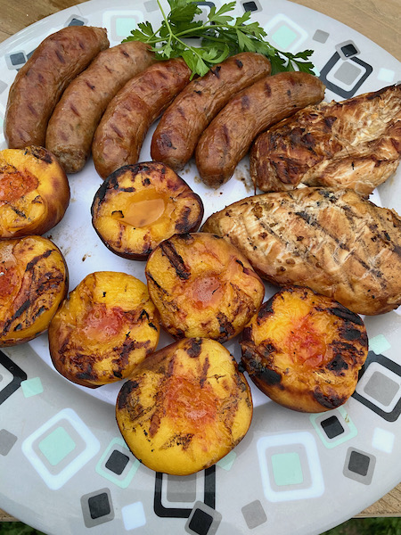 Grilled Peaches with Extra Treats