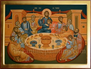 Last Supper - byzantine icon