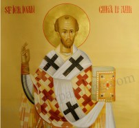 Painted icon Saint John Chrysostom