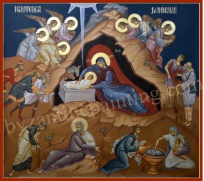 The Nativity of Christ, byzantine icons for sale