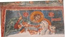 Mural painting Kurbinovo Macedonia (10)
