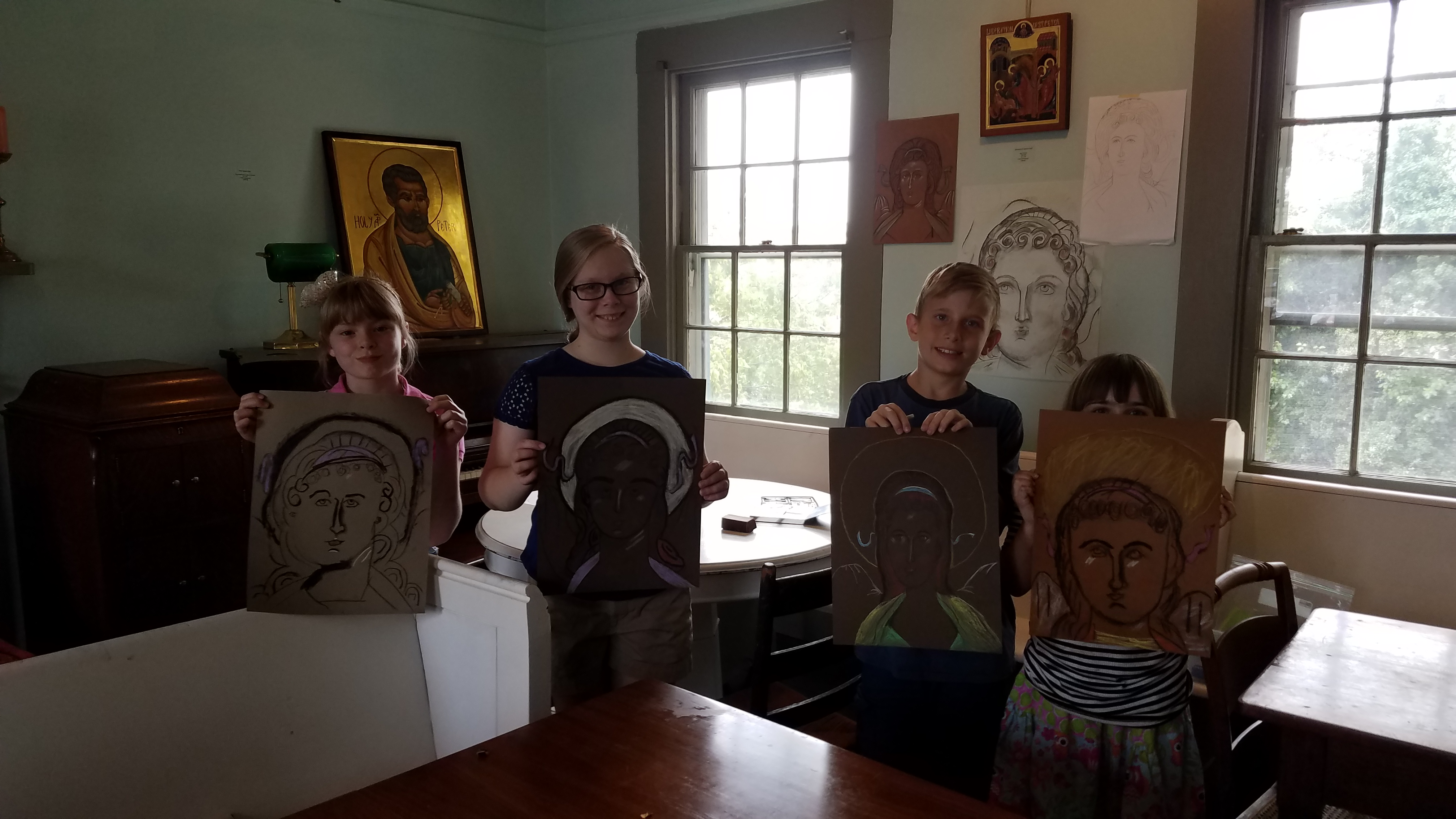 Kids beginning Drawing icon class20170811_114715