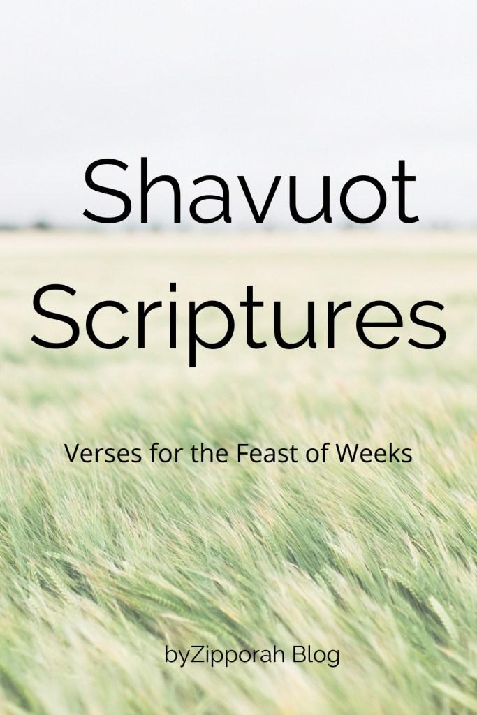 Scriptures for Shavuot - byZipporah Blog