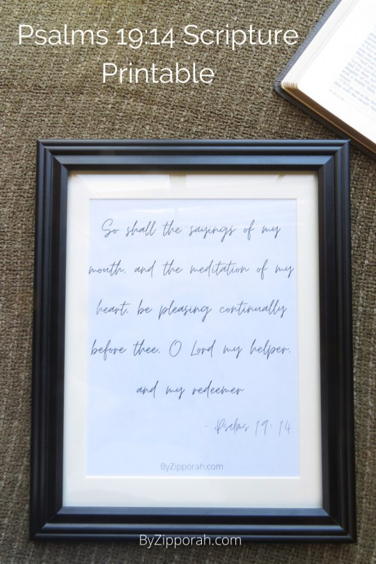 May The Words of My Mouth Printable – Psalms 19:14