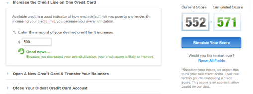 Increasing limits on credit cards
