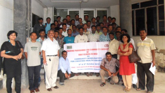 Group photograph during C-NES' Community Workers training