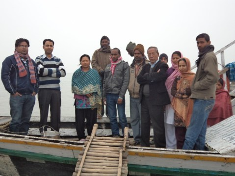 The DPM NRHM (second from left) with the Barpeta Boat Clinic Unit II team led by DPO Sapna Das