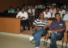 The audience at Jorhat's JB College auditorium