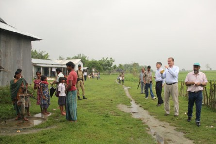 Ruhl takes a photo of the camp in progress at the pre-primary school. He said that not only was it an encouraging experience but he was struck by the efficiency of the unit and community acceptance of programs.