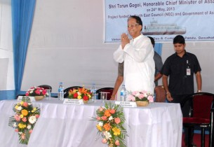 The Chief Minister Assam Mr Tarun Gogoi at the dedication ceremony
