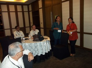 Bhasati Goswami (right) at the introductory session