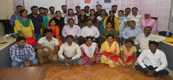 A group shot of the participants with members from the regional C-NES office, Guwahati