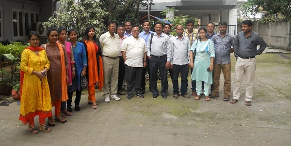 Alok Vajpeyi with C-NES ground staff from the five C-NES PFI operated districts and regional office, Guwahati