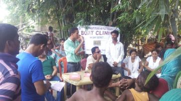 Dr. Bhumidhar Barman, Nalbari Bopat Clinic delivering his lecture on the importance of Breast Feeding