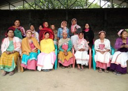 Interactive Session (FGD) with Deori community women folk. On the extreme right (standing)is Farzia Yashmeen Research Associate of the project